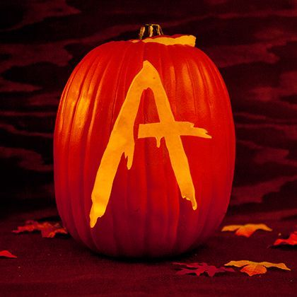 Pretty Little Liars fans know one thing for sure: A is always watching. The mysterious A lives to keep Spencer, Aria, Emily, and Hannah in suspense - with style. There's nothing more sinisterly spooky than a glowing jack o' lantern, except for one carved with A's charming, alarming signature.