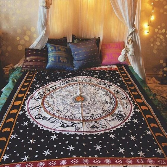 Mesmerizing tapestry crafted in soft woven cotton from Magical Thinking. Instantly adds a unique touch of boho charm to any living space or dorm room. Doubles a