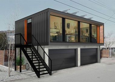 container garage3 garage pinterest garage maisons minuscules et coffre fort. Black Bedroom Furniture Sets. Home Design Ideas