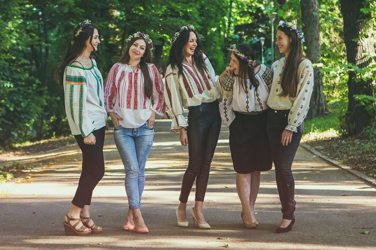 On a wonderful summer day wearing the romanian blouse.  www.sezatoareaurbana.ro