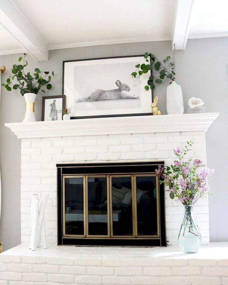 38 Best Modern Farmhouse Fireplace Mantel Decor Ideas