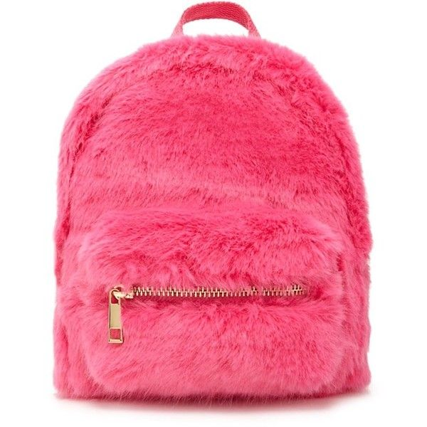 Forever21 Faux Fur Mini Backpack ($20) ❤ liked on Polyvore featuring bags, backpacks, hot pink, forever 21, zip top bag, rucksack bags, mini rucksack and forever 21 bags