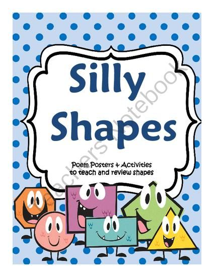 Silly Shapes Introduction to Geometry Poems and Activities with Mini Book from Third Time's a Charm! on TeachersNotebook.com -  (21 pages)  - Introduce Students to the Basic Shapes  A fun review or introduction to shapes!  The pack includes a quick poem, poster, coloring/review sheet, shape sorting activity, and mini book to make with your
