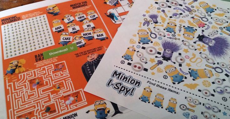 Minions Activity Kit, Minions, Scrapbooking, Minions, Junk Journals, Activity Pack, Minions I Spy Game,Minions Maze,Minions Quotes & Sayings by SpryHandcrafted on Etsy
