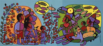 Norval Morrisseau X-Ray Painting Lesson Plan: Multicultural Art and Craft Lessons for Kids: KinderArt ®