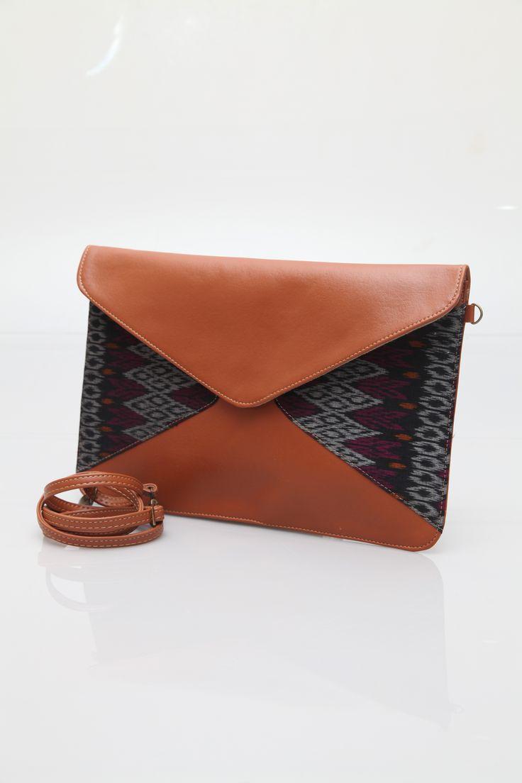 Manikan Envelope Bag, Ikat Clutch