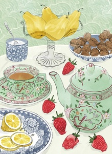 Tea Time, Alice Tait- Let's pull up a chair and have tea. -FashionistaTea