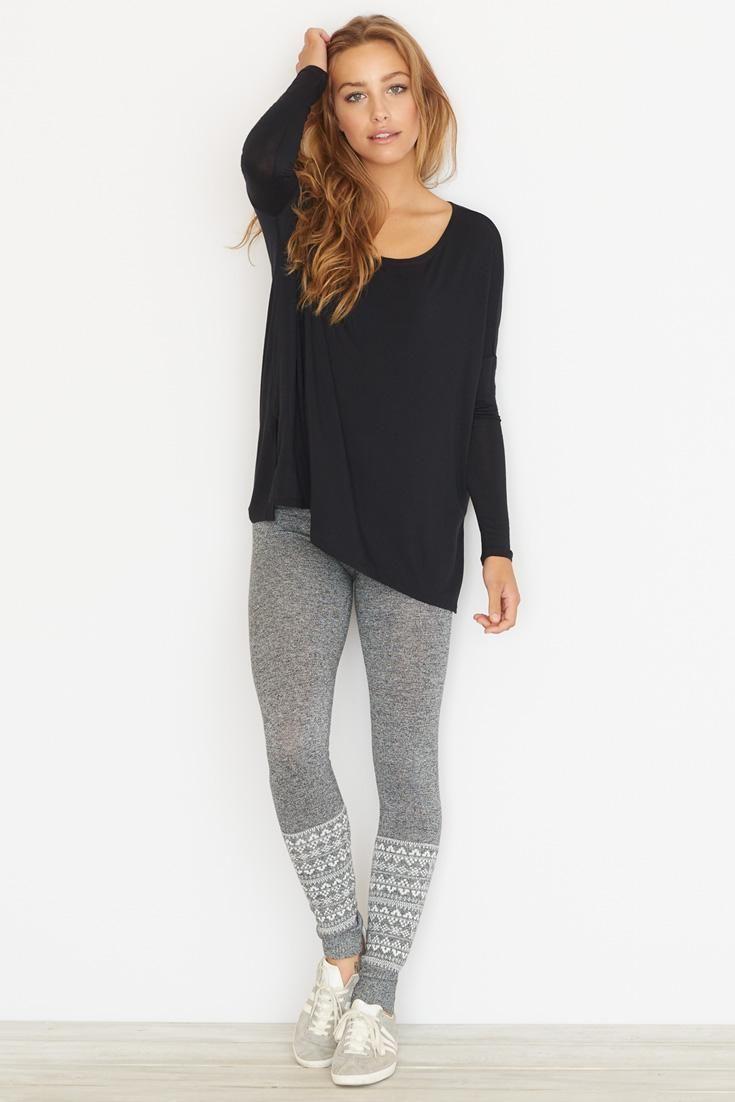 Jacquard Sweater Legging.