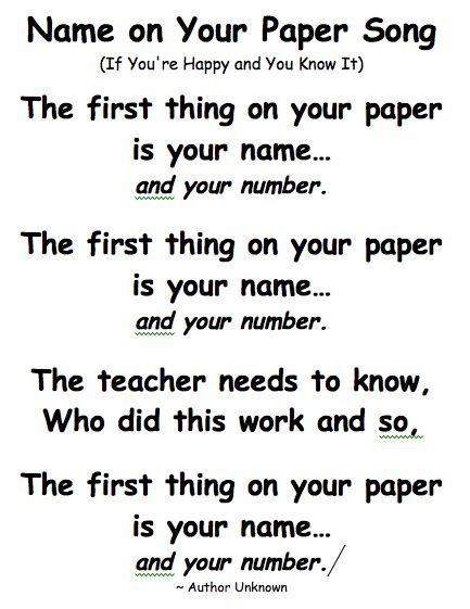 This is terrific!: Ideas, First Grade Songs, Paper Songs, Schools, Swamp Frogs, Classroom Management, Teacher, Names Songs, Classroom Songs