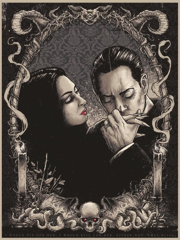 the perfect love: Morticia and Gomez.