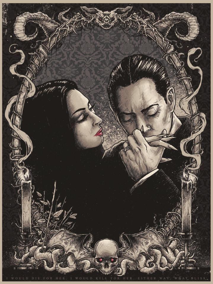 the perfect love: Morticia and Gomez.