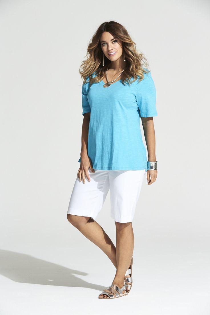 Tutti Frutti Tee in Turquoise  #mysize #plussize #fashion #plussizefashion #summer #newarrivals #outfit