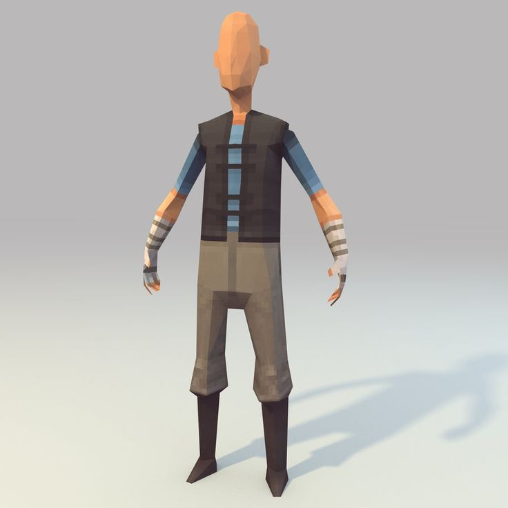Lowpoly Hero (WIP) by lithium-sound on deviantART
