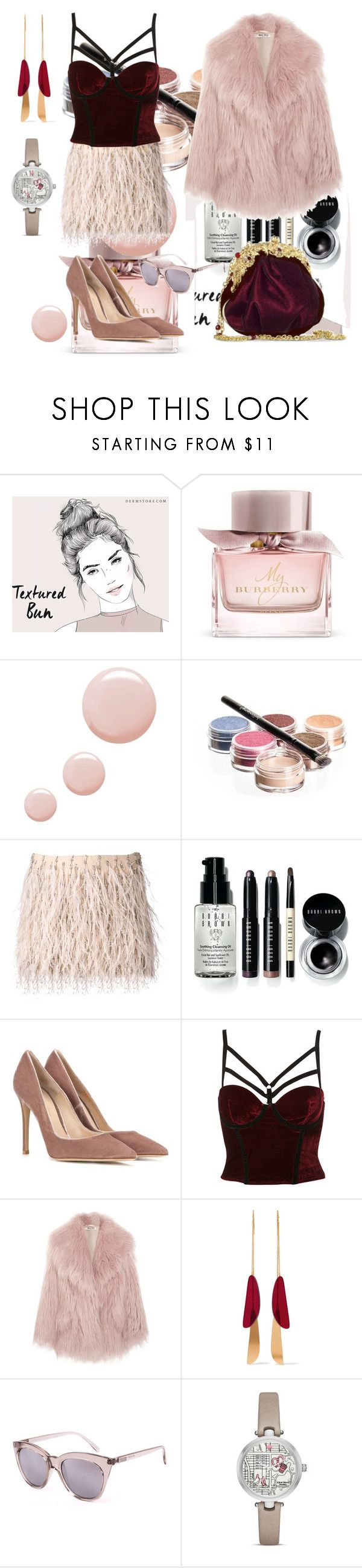 """""""Sin título #1134"""" by na-ty-1 ❤ liked on Polyvore featuring Burberry, Topshop, Bellápierre Cosmetics, Haute Hippie, Bobbi Brown Cosmetics, Gianvito Rossi, Maddalena Marconi, Miu Miu, Isabel Marant and Le Specs"""