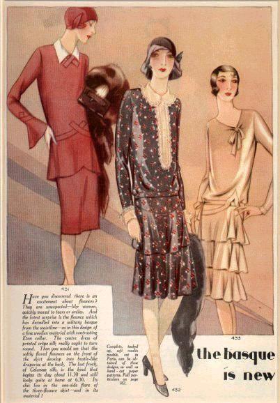 Les « Années Folles » de la mode (de 1920 à 1939)                                                                                                                                                                                 Plus
