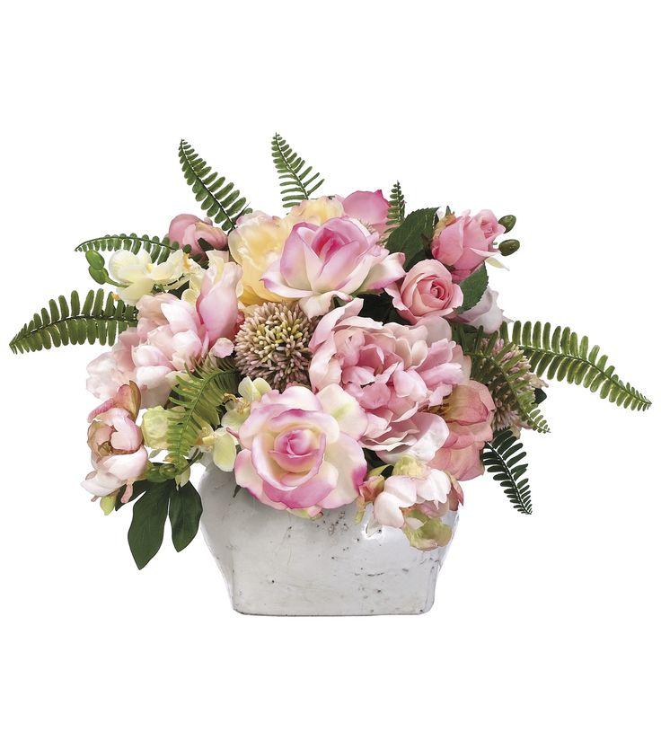 Bloom Room Luxe 14'' Rose, Peony, Allium & Hydrangea In Pot-Pink   Floral Arrangement   Online Only Product