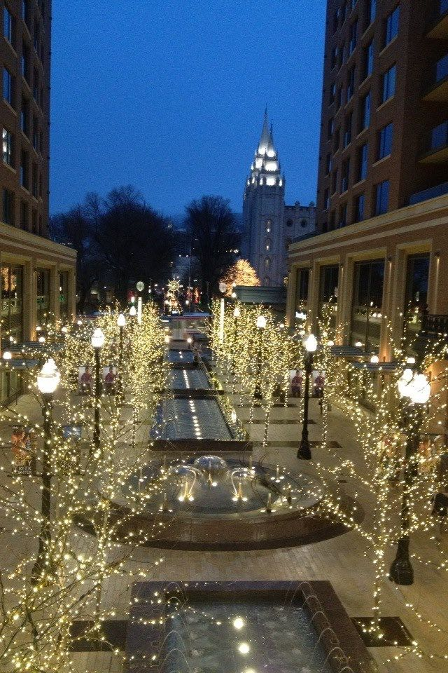 Salt Lake City during Christmas