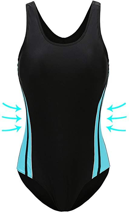 147812c45d6c6 Amazon.com  ANTSANG Womens One Piece Swimsuit Bathing Suit for Athletic  Sport Training Exercise