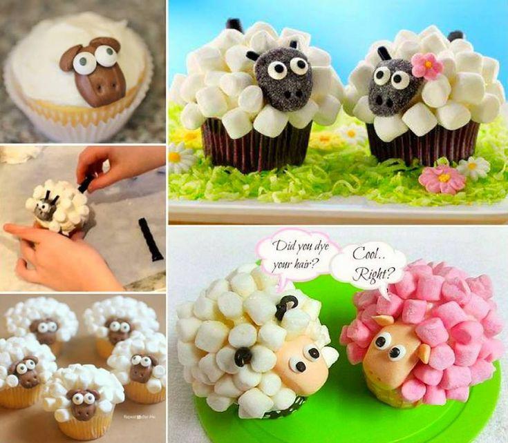 How to DIY Marshmallow Sheep Cupcakes | www.FabArtDIY.com