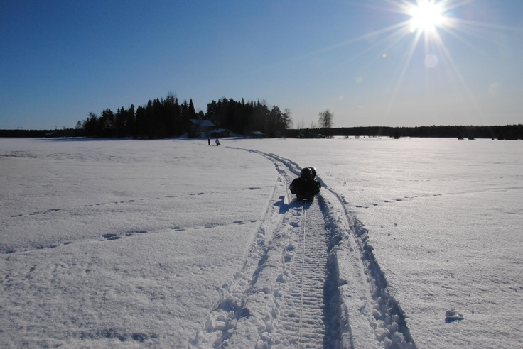 On a sunny day in March, Somero, Finland