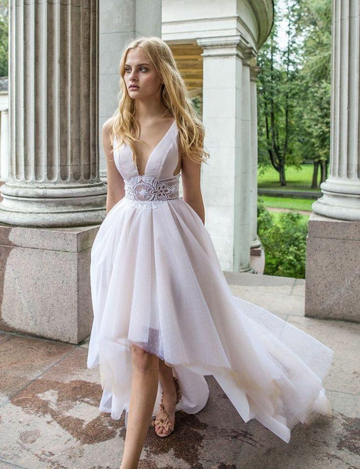 Vokuhila Brautkleid als BrautmodeTrend 25+ Inspirationen