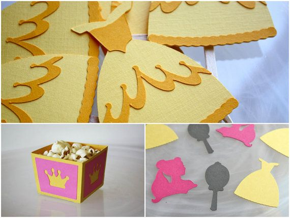 Disney Princess Beauty & The Beast Belle Party Pack / Cupcake Toppers / Snack Cup / Table Confetti on Etsy, $25.00 CAD