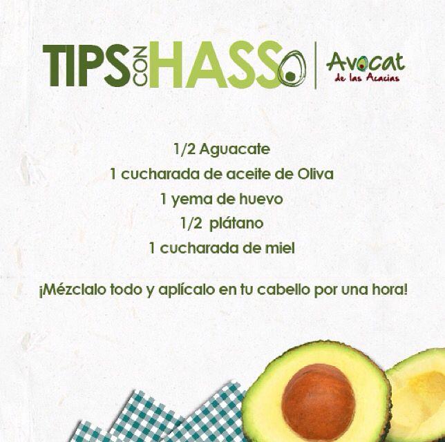 Te recomendamos esta mascarilla hidratante de aguacate para cabellos secos ¡Ideas sanas! #avocatacacias #aguacatehass #consumemashass #ideassanas
