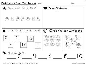 All Worksheets » Kindergarten Math Test Worksheets - Free ...