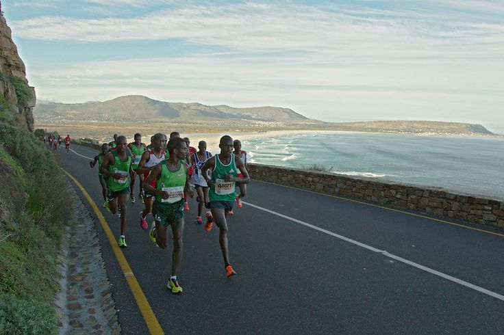 Stunning photo of David #Barmasai #Tumo for @Cara Pratten @AdidasZA @Heidi Smith @Craig Fry #OMTOM2014 CAPE TOWN, South Africa - Saturday 19 April 2014, The ultra marathon of the Old Mutual Two Oceans Marathon.  Photo by Greg Beadle / Im...