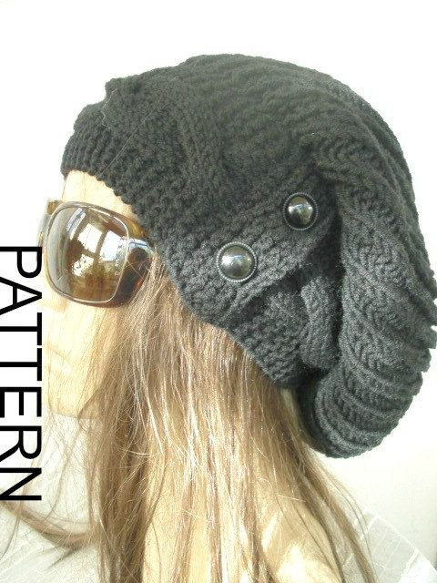 Instant Download Knitting Pattern Womens Knit Hat by Ebruk