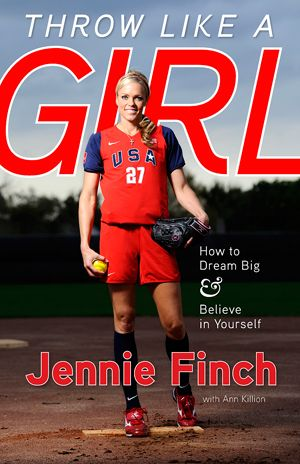 I have always LOVED her!  Throw Like a Girl: How to Dream Big and Believe in Yourself by Jennie Finch: Inspires, motivates, and answers questions about issues specific to today's female athletes. NCAA softball champion, two-time Olympian, and sports icon Jennie Finch offers sound advice on how to translate the lessons she learned from sports into everyday life.