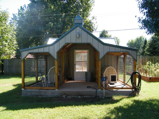 Dog kennel building plans bing images dog kennel for Dog kennel shed combo plans