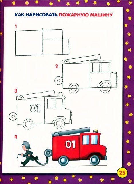 Рисование пожарной машины в подготовительной группе запах
