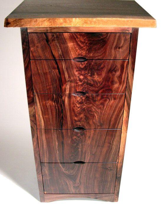 Modern Walnut Dresser by AaronSmithWoodworker on Etsy