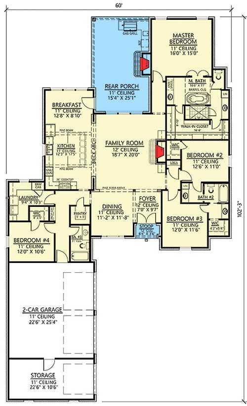 Best 25 open concept house plans ideas on pinterest for Acadian style open floor plans