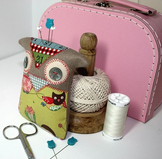 owl pincushion kit and pattern available
