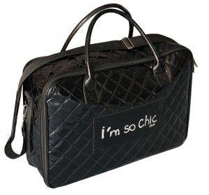 VALISE SOUPLE - I'm so chic - Noir #sacdevoyage #valises #bagages #valise #sacvoyage #lemondedubagage