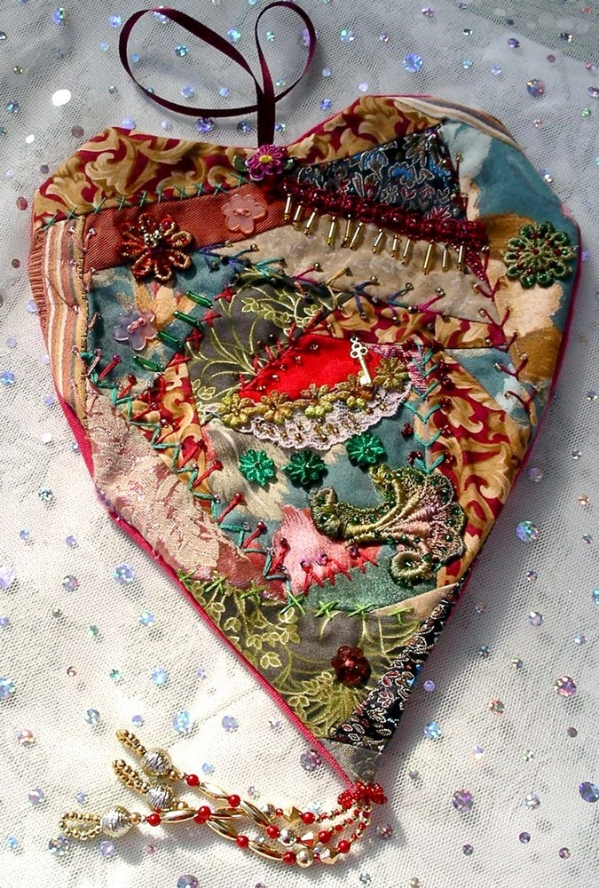 I ❤ crazy quilting & embroidery . . . CQ Hearts ~By Judy's Fabrications
