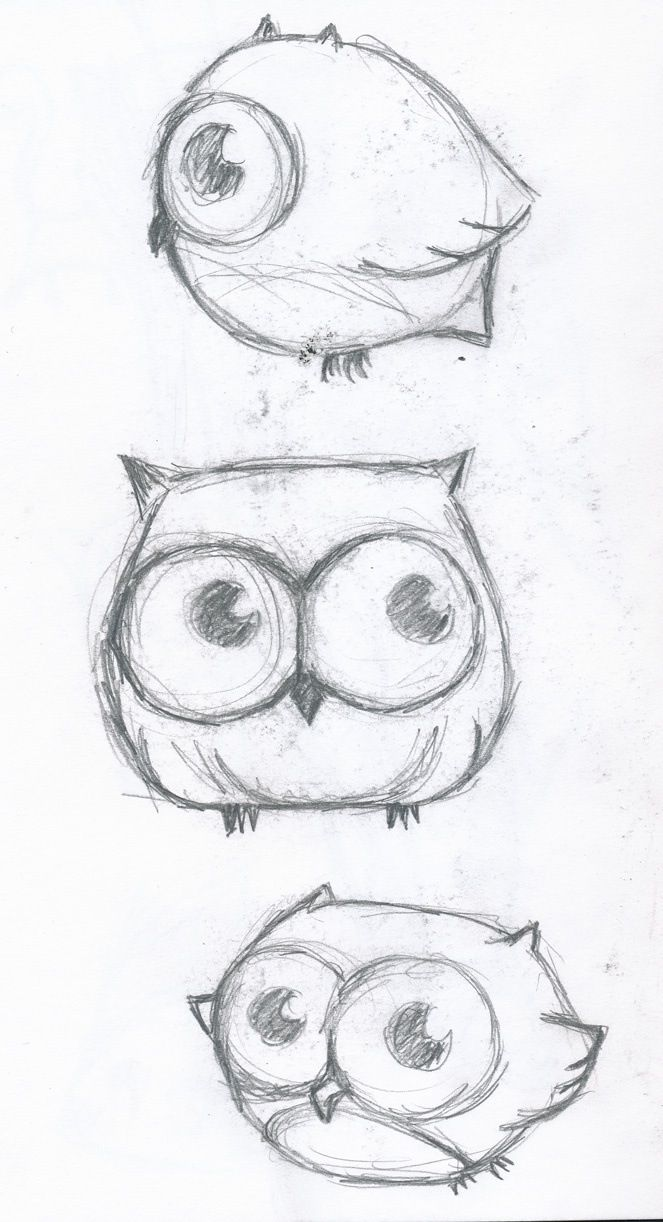 Cute Owl Drawing Dibujo Pinterest Owl Drawings Cute
