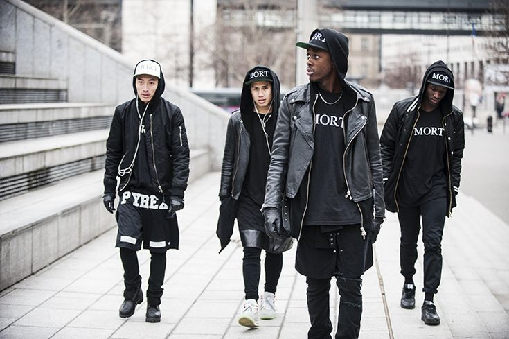Black & White. Gang. City. Violence. MORT. Fashion. Black & Black. Clean. Urban. Youth. Clothing. Leather. Street Style. Pyrex. Music. Headphones. Typography. JPMV.