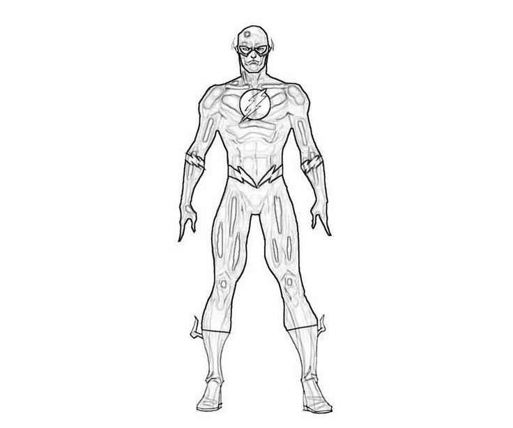 Printable Flash Flash Superhero Coloring Pages Decor Ideas