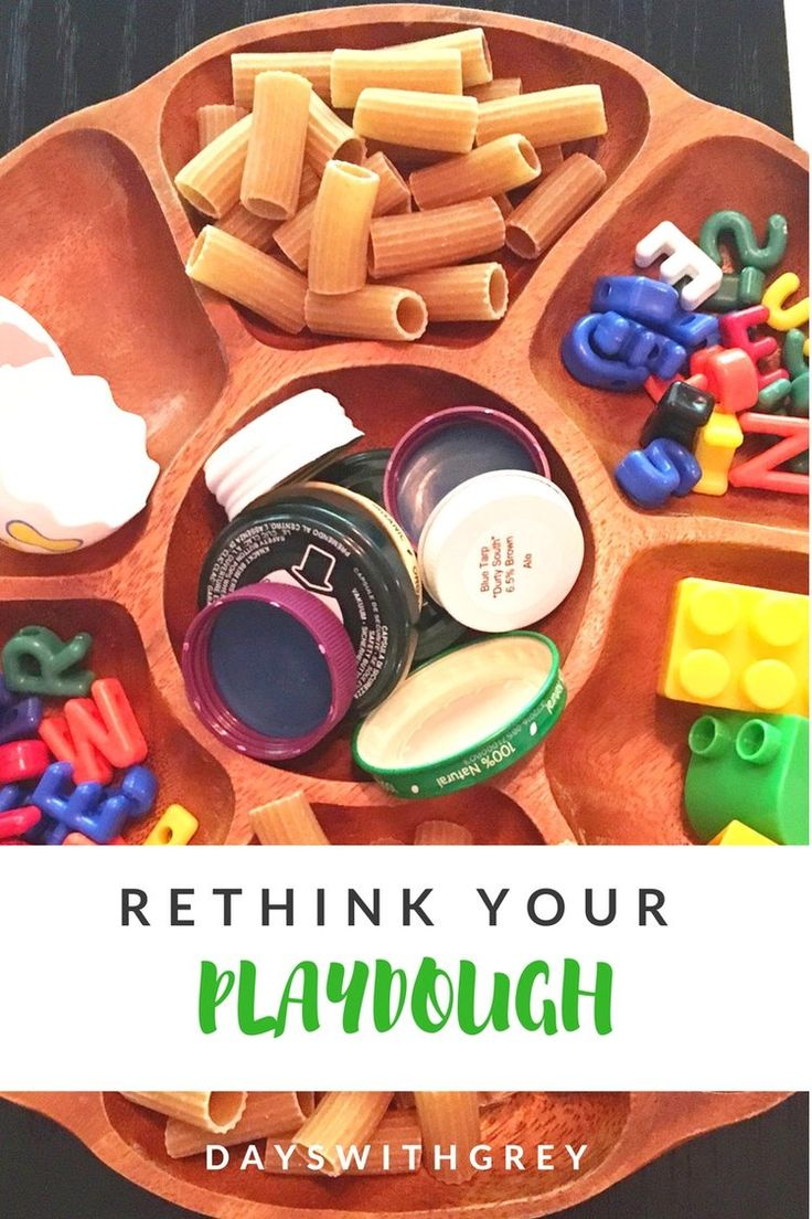 Loose parts with playdough.