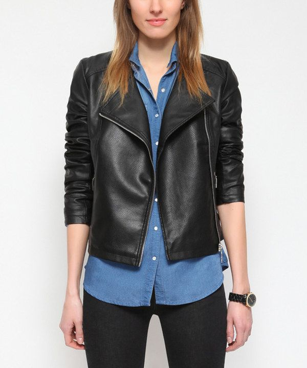 Look at this Black Moto Blazer on #zulily today!