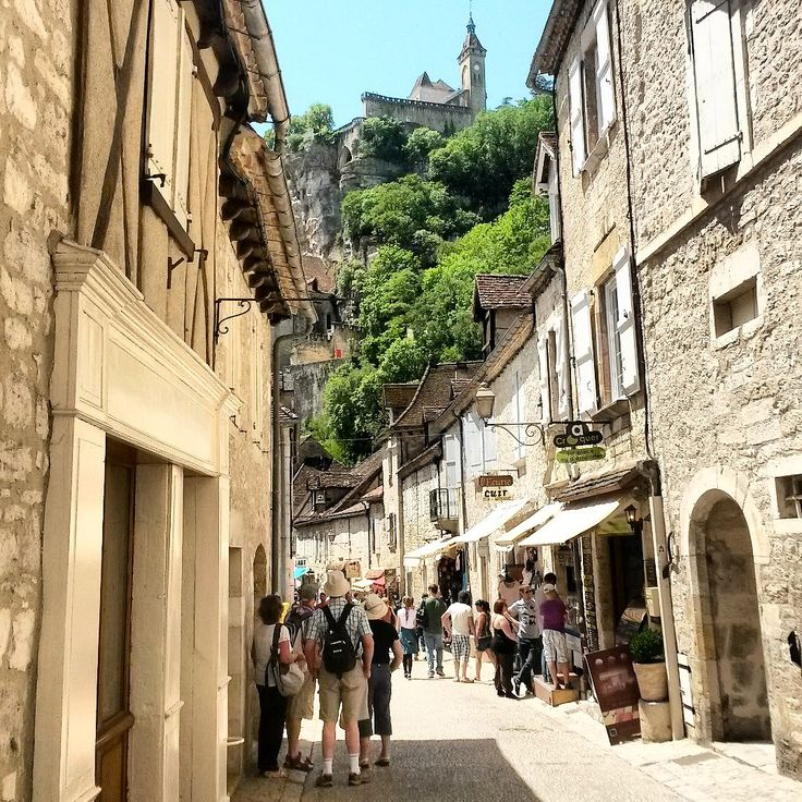 Charming village in the Dordogne - you can see the church in the background. For those who don't want the climb, there is a lift