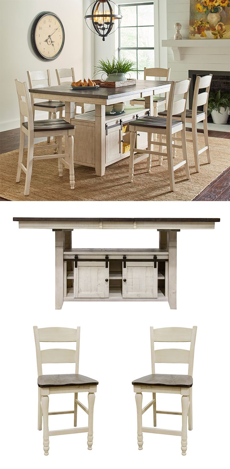 This Beautiful Dining Collection Crafted From Solid Reclaimed