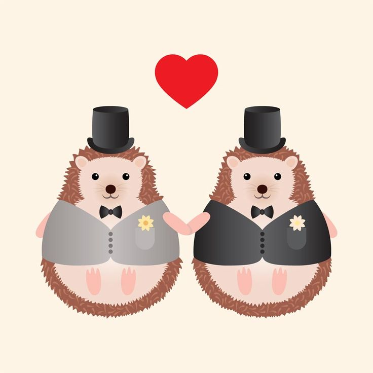 This adorable hedgehog couple are as cute as a button! Great for animal lovers and for a quirky couple. Guaranteed to put a smile on their faces on their big day.
