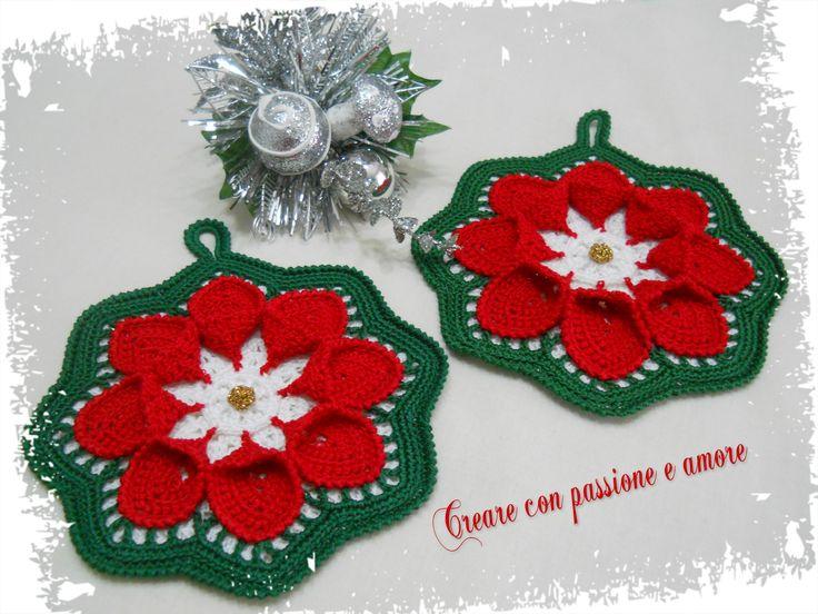 Presine natalizie uncinetto by https://www.facebook.com/creareconpassioneeamore/