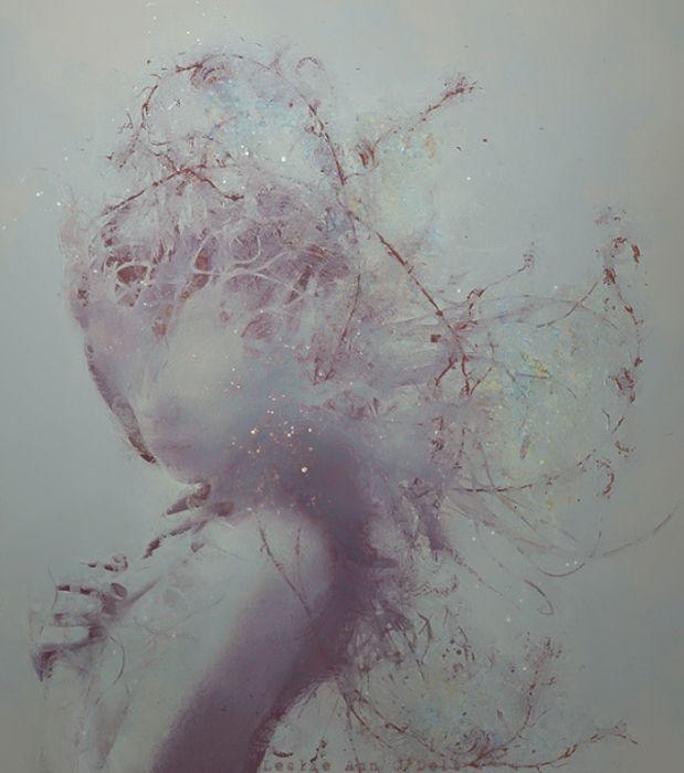 Призрачные портреты девушек.  Автор работ: фото-иллюстратор Лесли Энн О'Делл (Leslie Ann O'Dell).