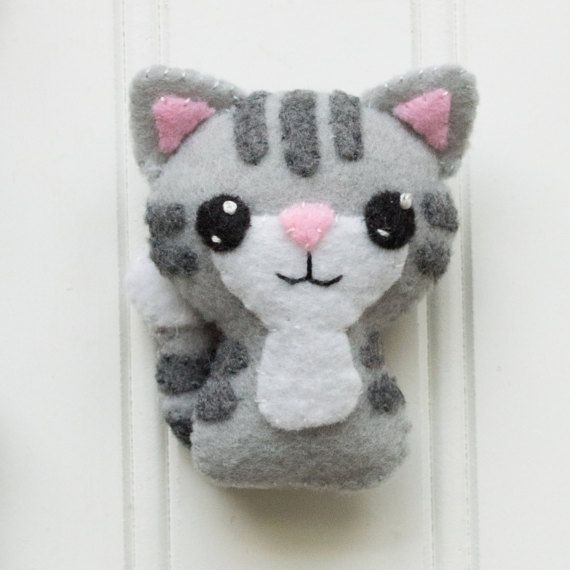 Felt Animals – Felt Cat – Softie Pattern – Plushie Pattern – Cat Felt Pattern – Felt Cat Pattern – S