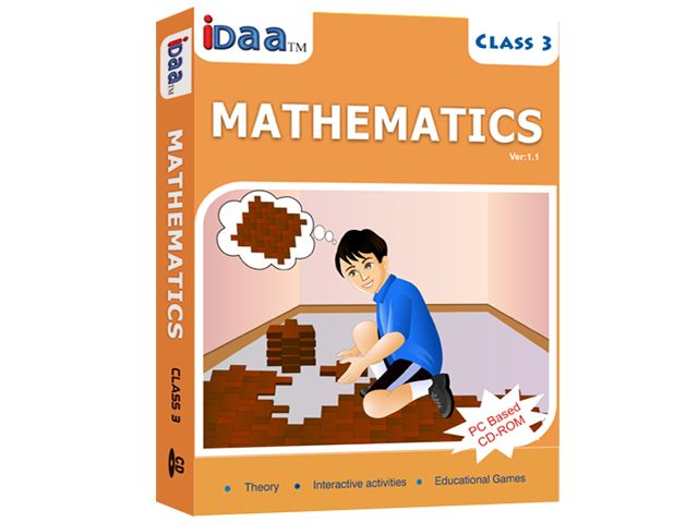 Maths can now be learned the fun way through IDAA Learning CBSE Maths Class-3.CDs come with unique way of explaining various topics.